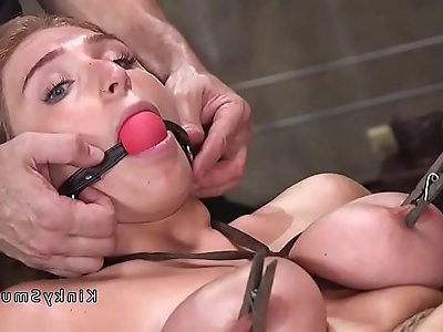 Huge tits gets bdsm training