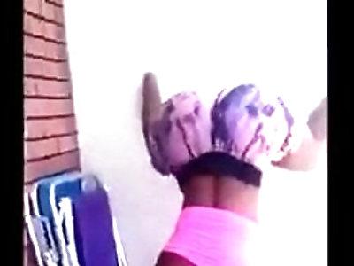 Dark Brazilian Chick Twerking