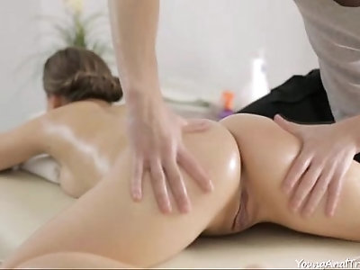 Vera closes her eyes and enjoys the feeling of a throbbing cock up her ass