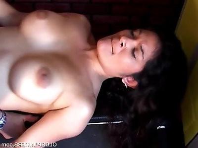 Super sexy latina enjoys a sticky facial cumshot