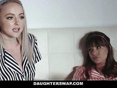 DaughterSwap Teens fuck dads best friend during movie