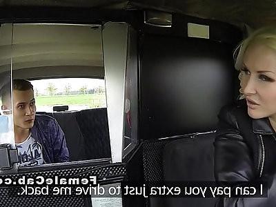 Euro female fake driver bangs big dick