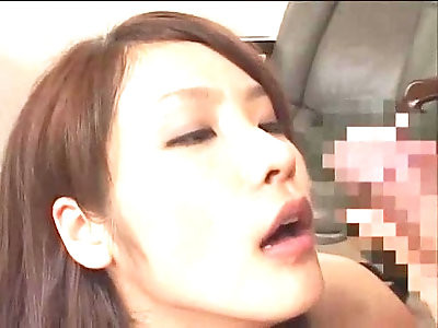 Dominating and sniffing cock