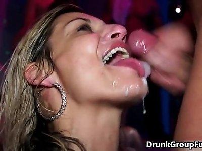 druunk party girls sucking and fucking