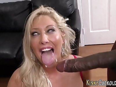 Jizz mouth cuckold domina