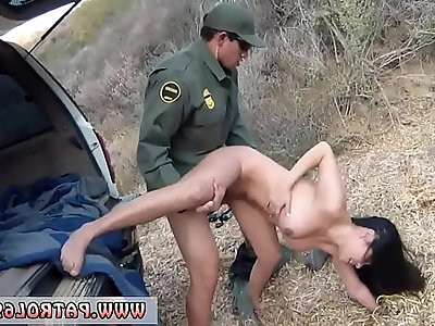 Female fake taxi police officer first time Stunning Mexican floozie