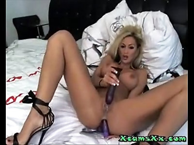 Amazing Blonde Webcam Whore Dp Masturbation In High Heels On Amateur Cams