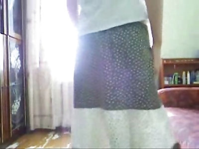 My crazy sister self spanking. Great stolen video