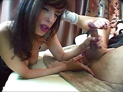 Finger pegging blowjob shandafay