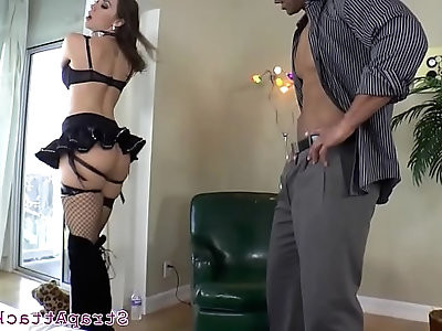 Bigtits dominatrix toys with her bfs asshole