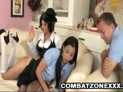Mom spank daughter and son