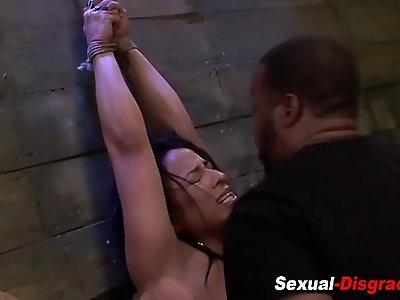 Bdsm slut gets fingered