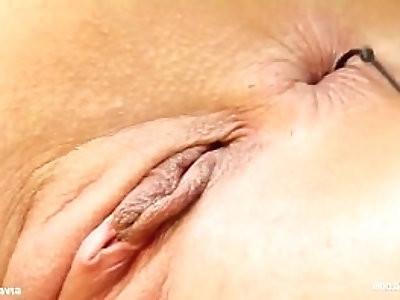 Eliza gonzo style solo masturbation on Give Me Pink