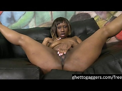 Sassy Slut Kenya Sweetz Gets Throat Violated
